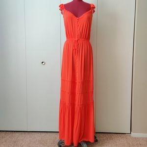 Forever 21 Woven Button Front Maxi Dress